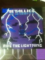 -Perler- METALLICA Ride The Lightning (Progress) by OtakuLuka