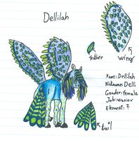 Dellilah ref.sheet by CanineCriminal