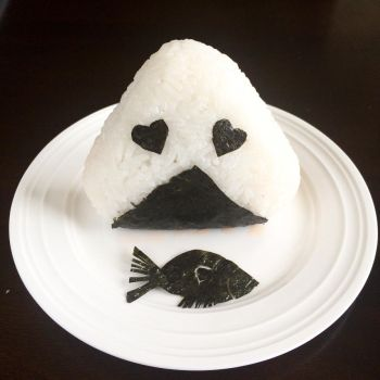 Salmon Stuffed Onigiri by Mini-Artiste