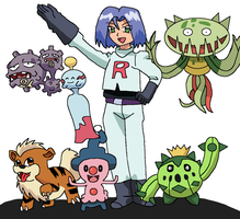 Request: James and his Pokemon by AfroOtaku917