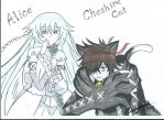 Alice and Cheshire Cat by I-Love-Ghost-Writer