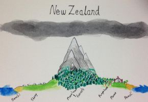 Cross-Section of New Zealand by Jburns272