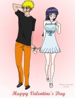 NaruHina - 'Will you be my Valentine?' by Hatone-Kudasaki