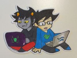 JohnKat Homestuck Custom Sticker by Ukeaco