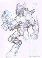 cyberdemon sketchy by marcnail