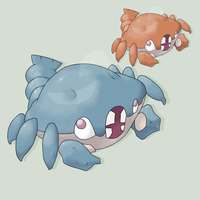 Fakemon - Lobsnip by mssingno