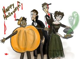 Happy Halloween from some overworked waitstaff! by MusicalFire