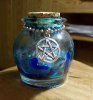 Ocean jar with wiccan symbol by Prepare-Your-Bladder