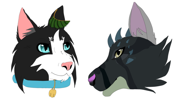 Hart and Balisong Headshot - Gift for Feral by Havenspirit-LeafClan