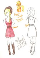 Apple Jack Dress Design by XeMiChan576