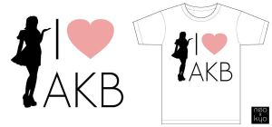 I LOVE AKB T-shirt by NeoKyoStudio