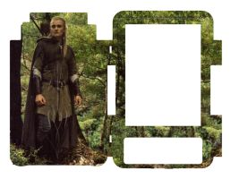 Kindle 3 Skin Cover - Legolas by Everild-Wolfden