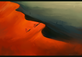 Journey_Fire sand by Kasimova