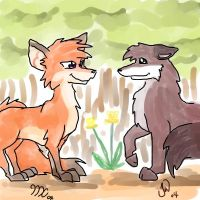 Jen and me colab by kitfox-crimson