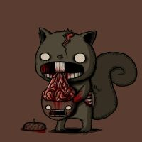 zombie squirrel by Litioo