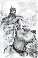 Batman and Scooby Doo by FreddieEWilliamsii