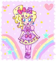 kawaii chibi peach by ninpeachlover