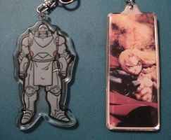 Alphonse and Edward Elric (keychains) by Zombie-Necromancer23
