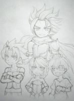 Grandchase Elesis Elscud Gerald and Larry by MakeItRhaine