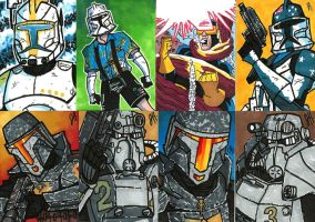 Commish - More Sketch Cards by JoeHoganArt