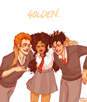 Hermione and Her Boys by batcii