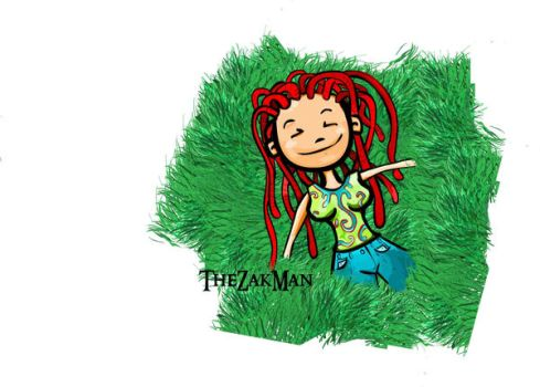 Girl and the grass by TheZakMan