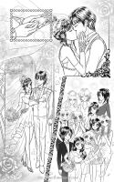 Commission manga page: George and Selene's wedding by starca