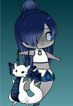 My Pisces Chibi by AtomicCrybabyEvilian