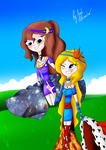 Goddess of the Moon and the Queen of kerosene by JudiAnimation