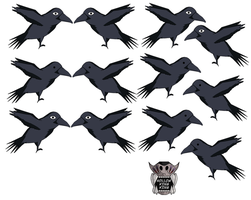 Crows by hollowkingking