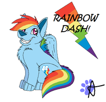 Rainbow Dash...canine. :D by AJ-Shep