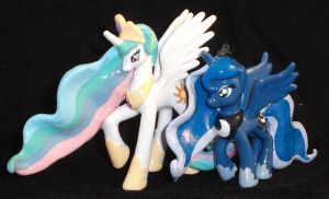 Princess Celestia and Princess Luna Blindbags by Gryphyn-Bloodheart