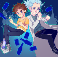 rick and morty by CountlecterMD