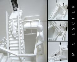 M.C.Escher Exhibit Model by Tora-Michelle