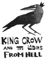 King Crow T-Shirt by LunglessArt