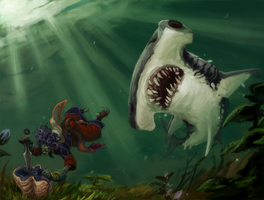 WoW: Sharks in the sea by NightmareHound