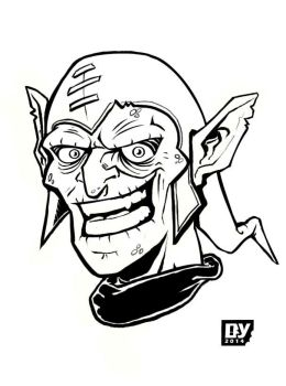 Green Goblin Sketch by hannibal870
