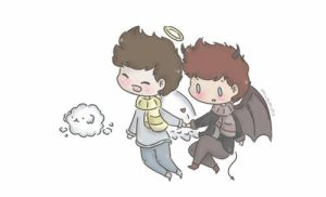 demon!lou angel!harry by milamint