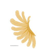 Transparent Orange and White Wing by K1ku-Stock