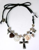 Charm and cross necklace by bchurch