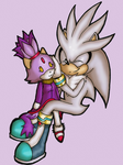 Silver and his Blaze plushie by Cornflakee