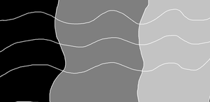 Black, Gray, and Light Gray Pattern by PIZZAPIE97