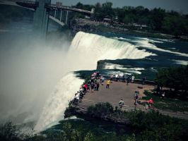 the falls,  tourists and all by mysteriousfantasy