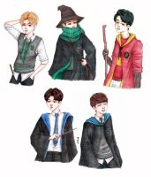 SHINee in Hogwarts by blingyeol