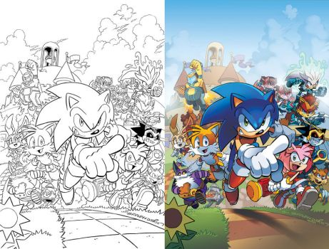 Sonic the Hedgehog 241 Cover by herms85