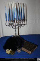 Hanukkah Still Life by DamselStock