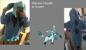 Glaceon Hoodie by theamazingwrabbit
