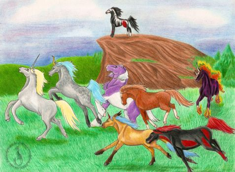 The Ethereal Herd by Malicious-Felis