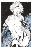 RED MONIKA - PENCIL and INK - by FRED BENES by Ed-Benes-Studio