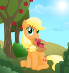 Likes an apple by rainbownspeedash